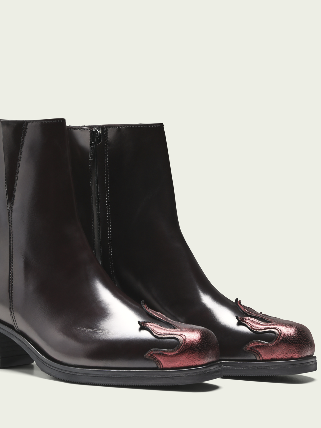 Women Sheila - flame toe leather boots