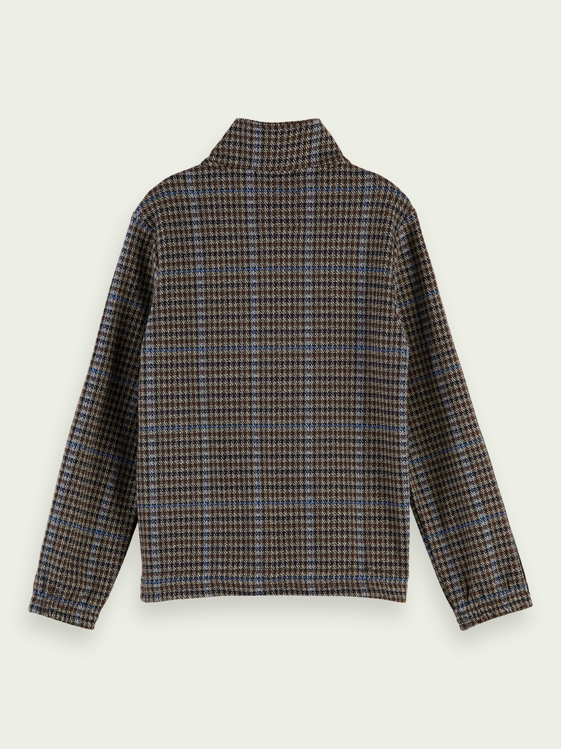 Boys Embroidered checked track top