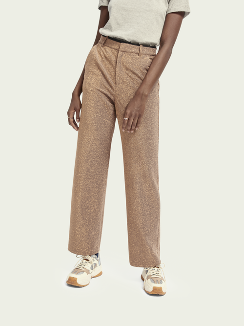 Scotch & Soda WIDE LEG STRETCH METALLIC PANTS