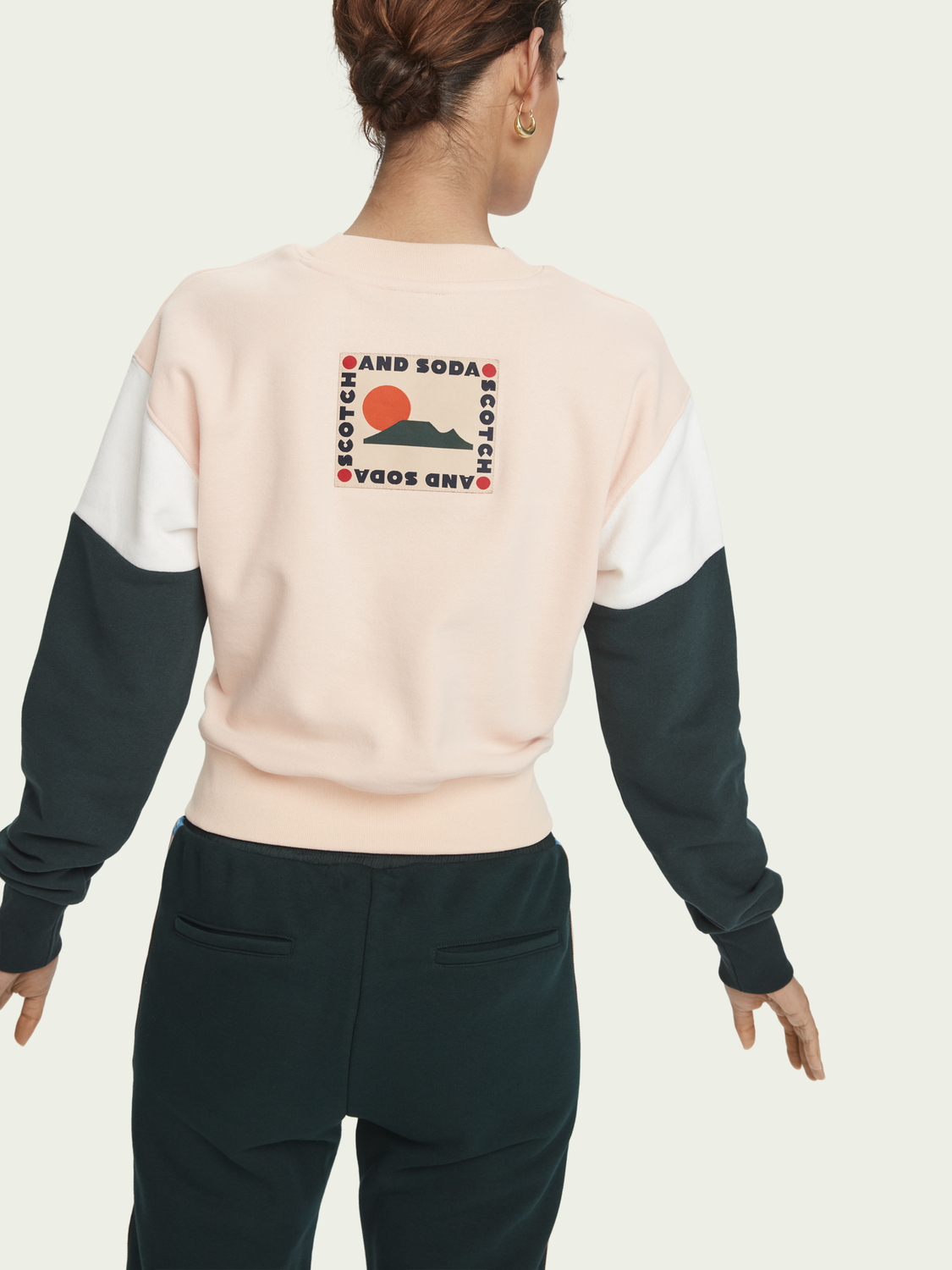 Women Colour-block knotted sweatshirt