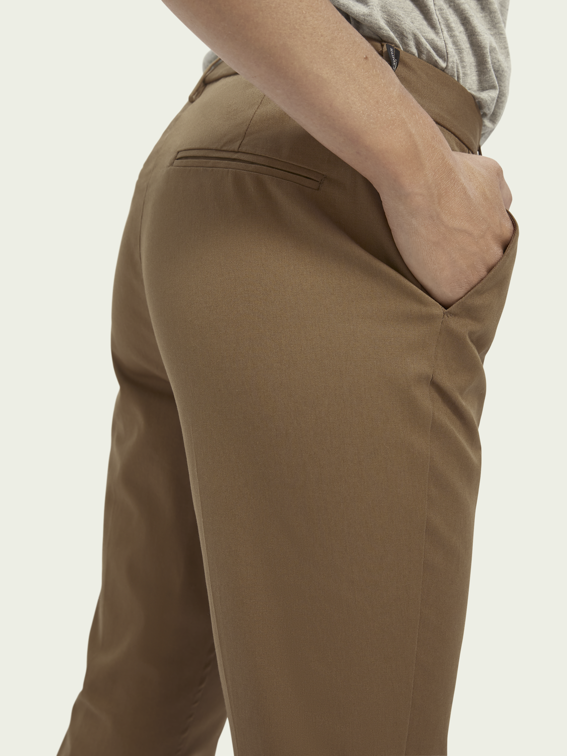Dames Abott | Mid rise regular fit chino