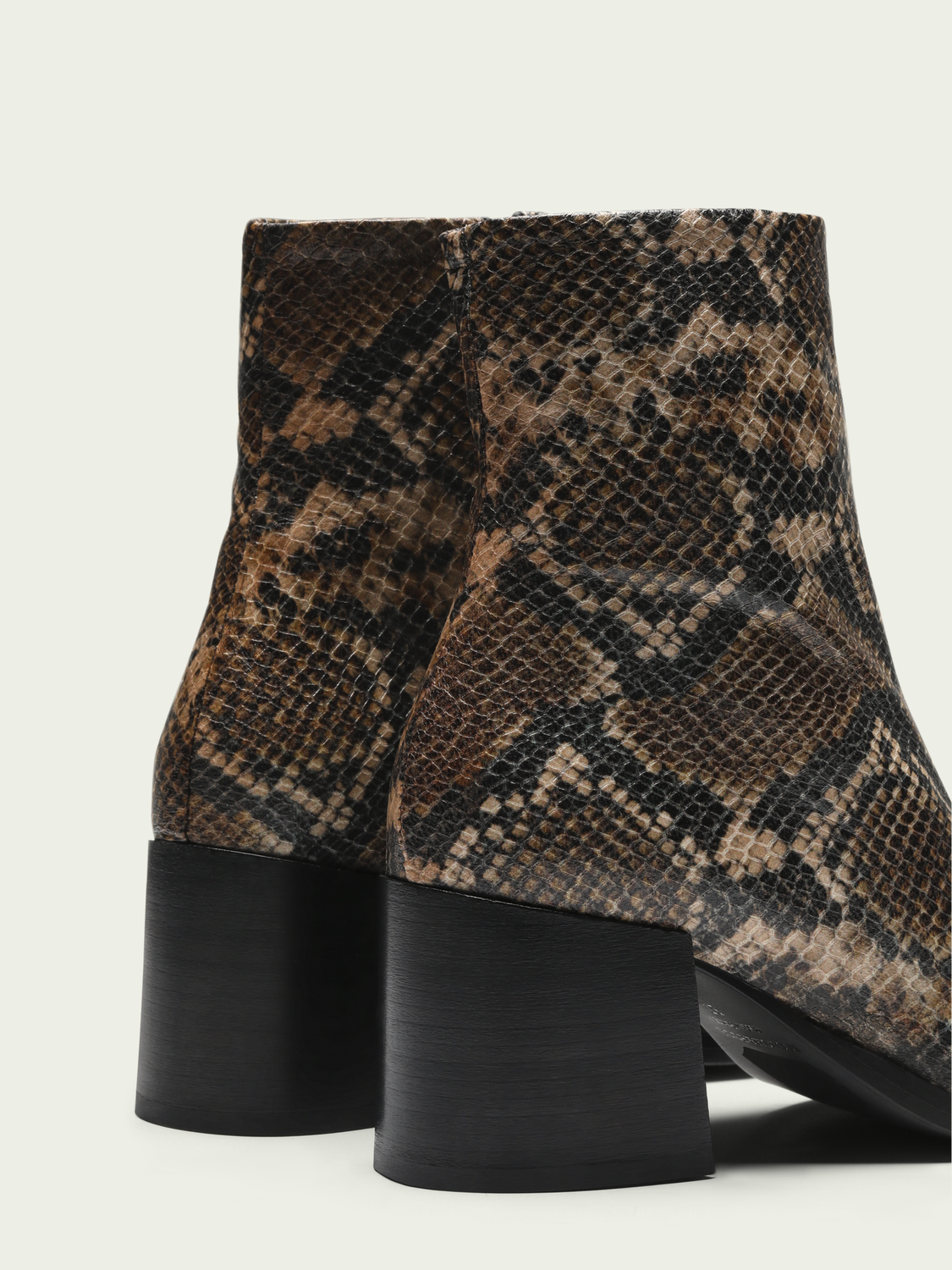 Women Florence - leather snake-effect ankle boots