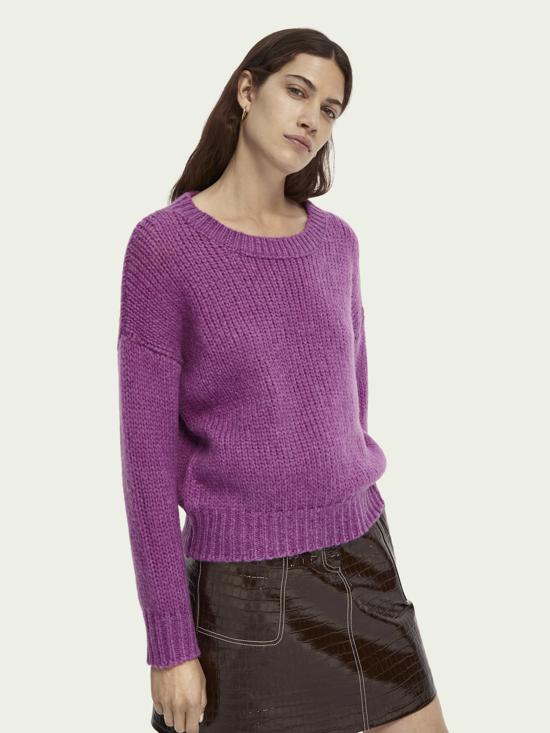 Women Soft wool-Alpaca blend knitted pullover