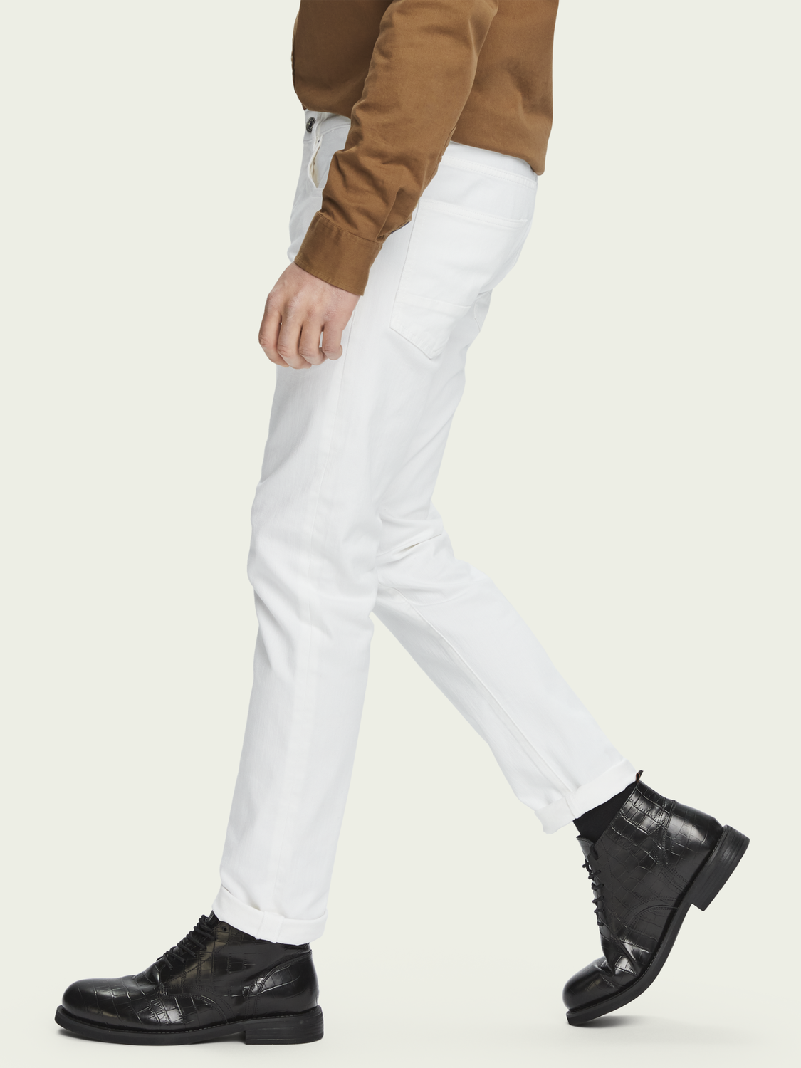 Heren Ralston - Clean White | Slim fit jeans