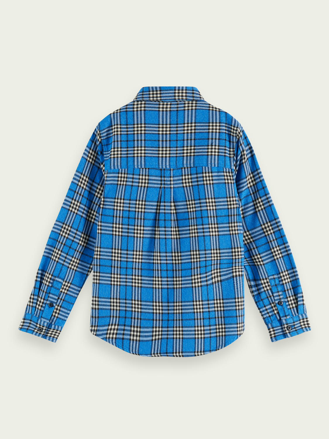 Kids Checked long sleeve cotton flannel shirt