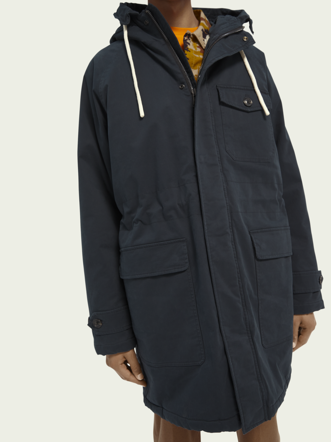 Men Padded parka jacket