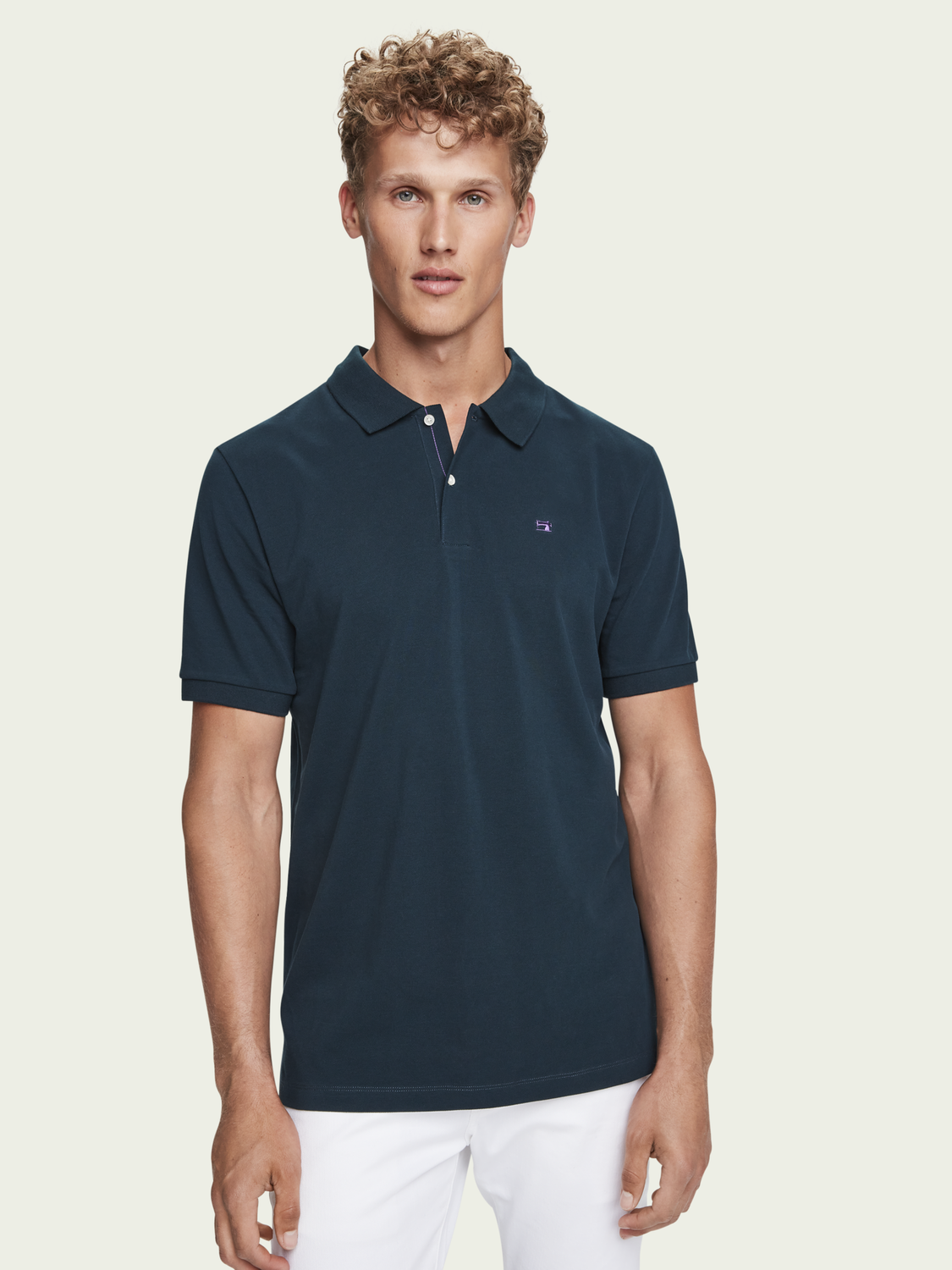 Men Pique cotton polo shirt