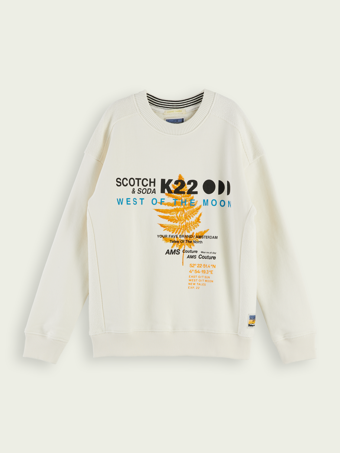 Kids Embroidered long sleeve cotton sweatshirt
