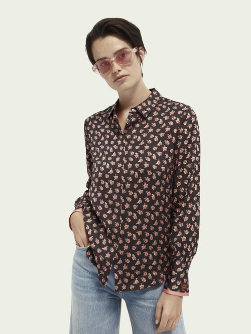 Scotch & Soda Regular fit blouse met lange mouwen