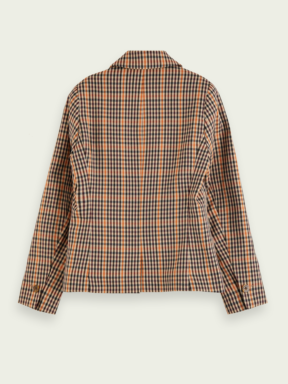 Girls Cotton-blend double-breasted checked blazer