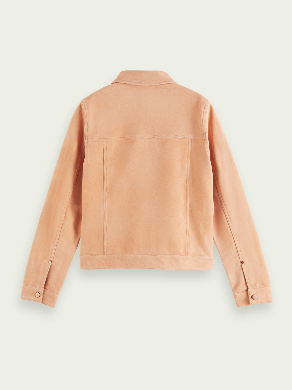 Women Fitted soft suede jacket
