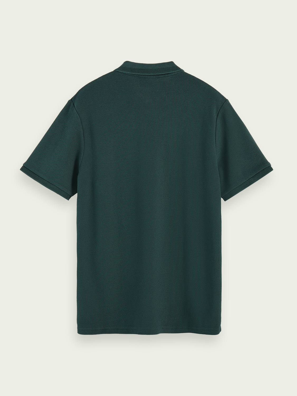 Men Cotton-blend short sleeve pique polo shirt