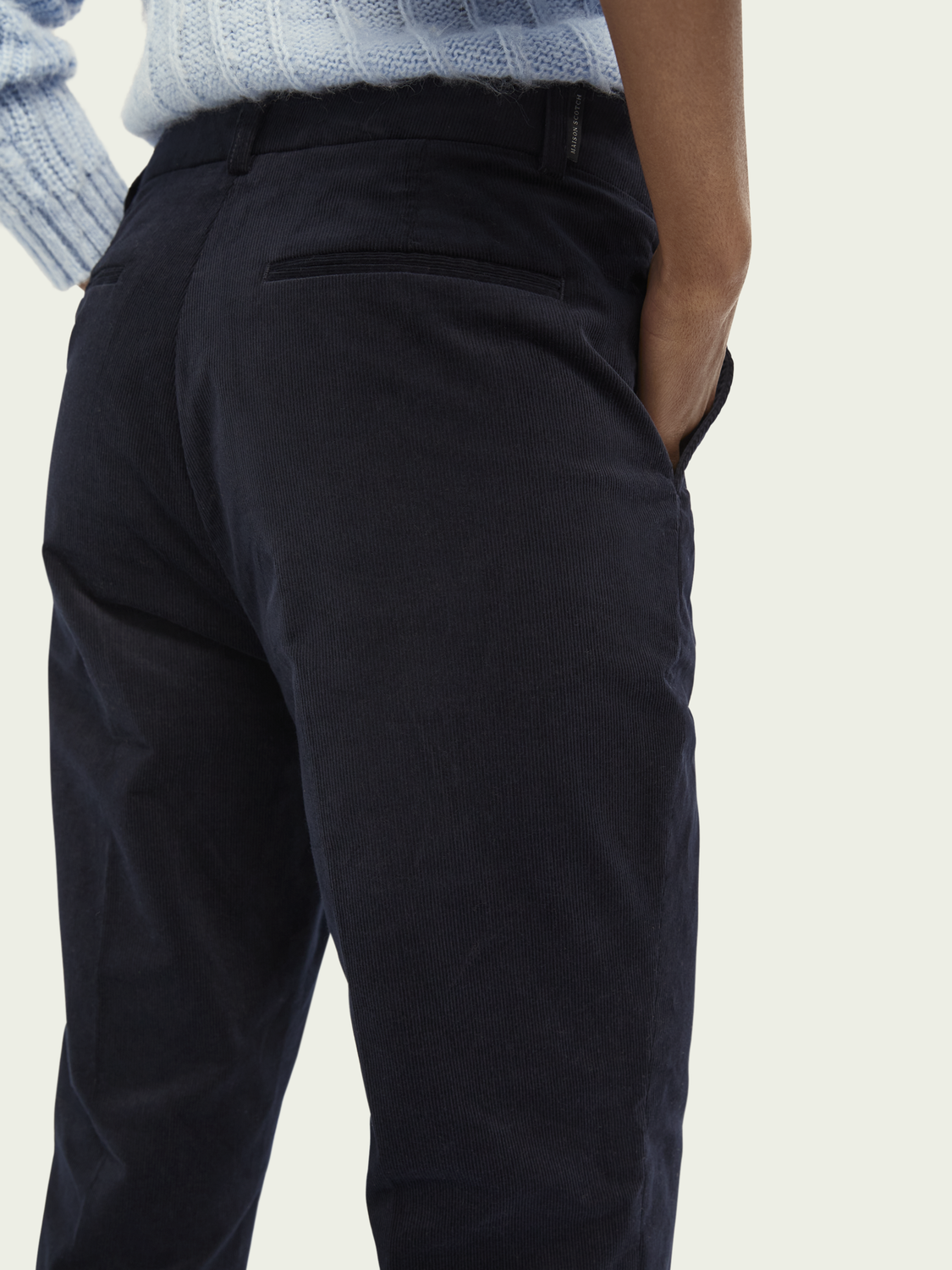 Dames Abott – biologisch katoen | Regular fit corduroy chino