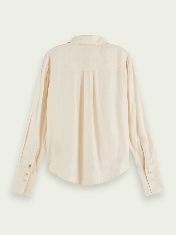 Damer Långärmad skjorta med rosettkrage