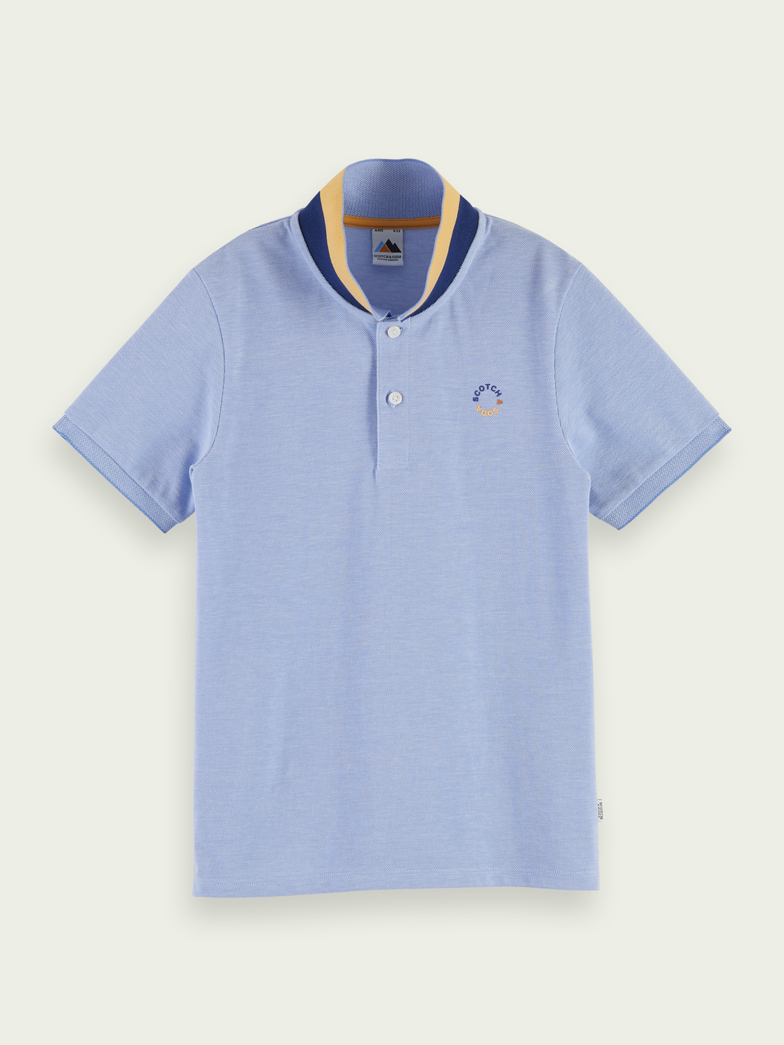 Kids Cotton short sleeve polo shirt