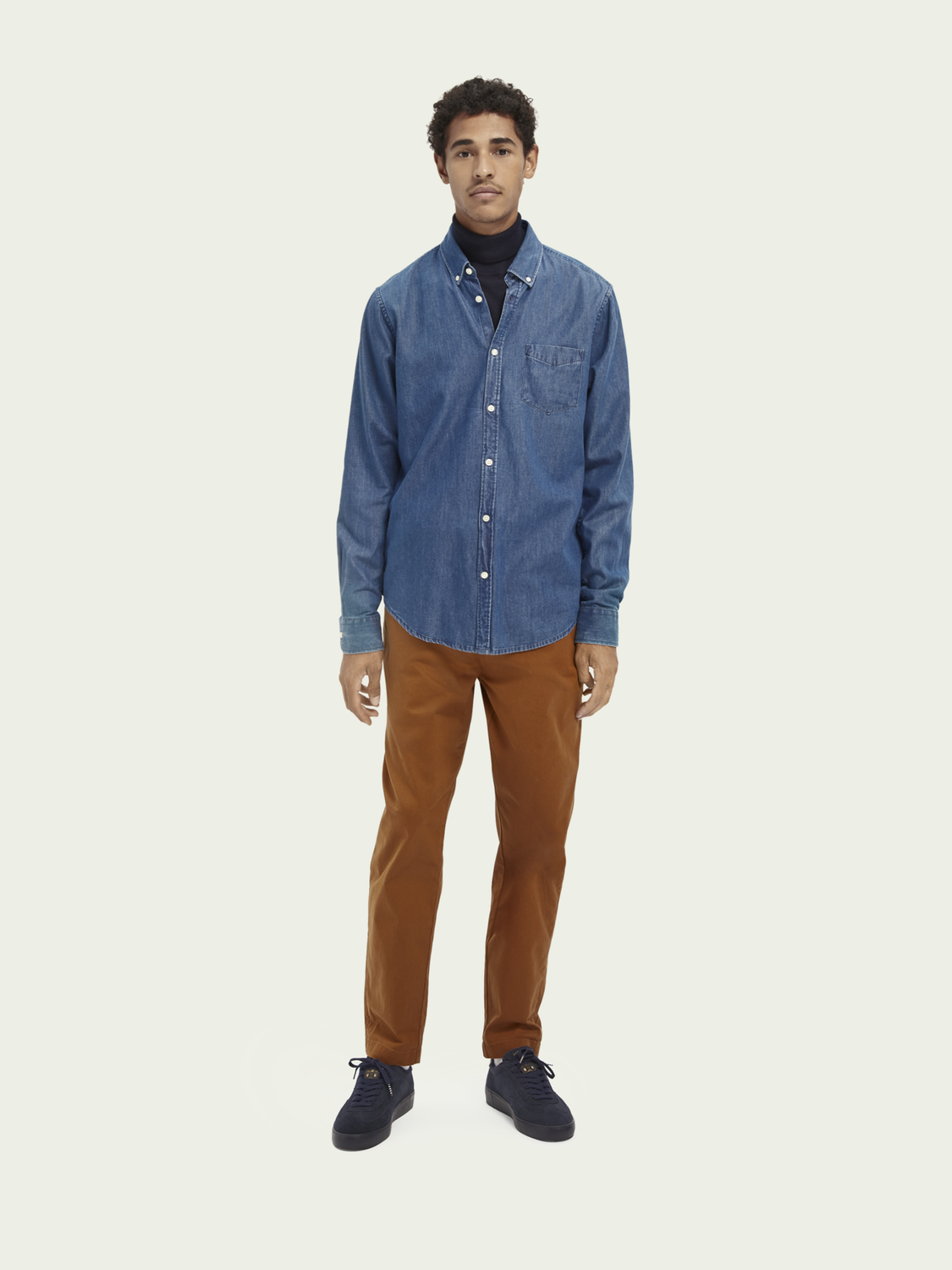 Men One-pocket denim shirt