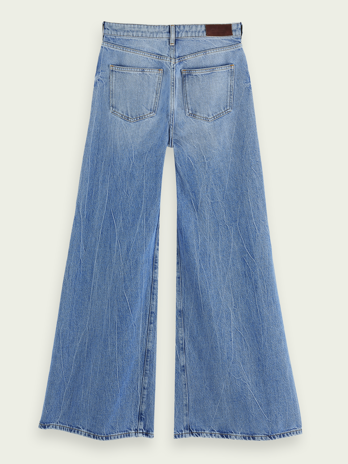 Women High-rise extra wide-leg jeans – Blue Butter
