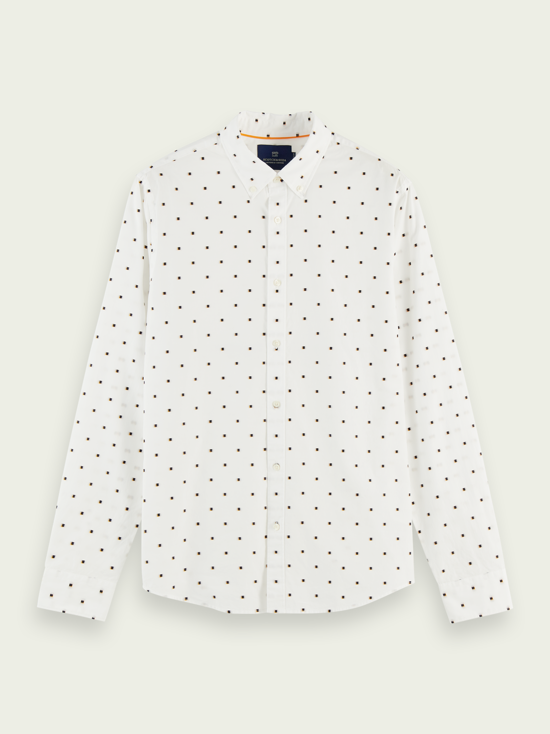 Men Cotton fil-coupé jacquard shirt