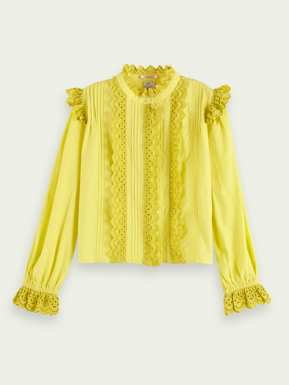 Girls Lacy long sleeve top