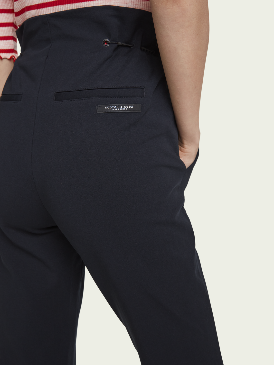 Women Structured high-rise ankle length pants
