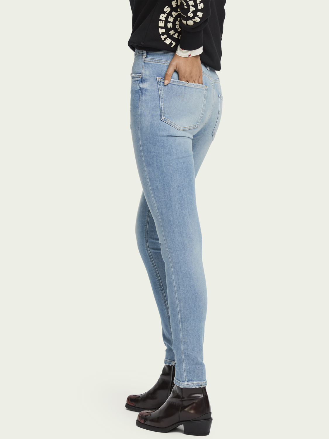 Damen Haut – Clear Sky | High-Rise Skinny Fit Jeans