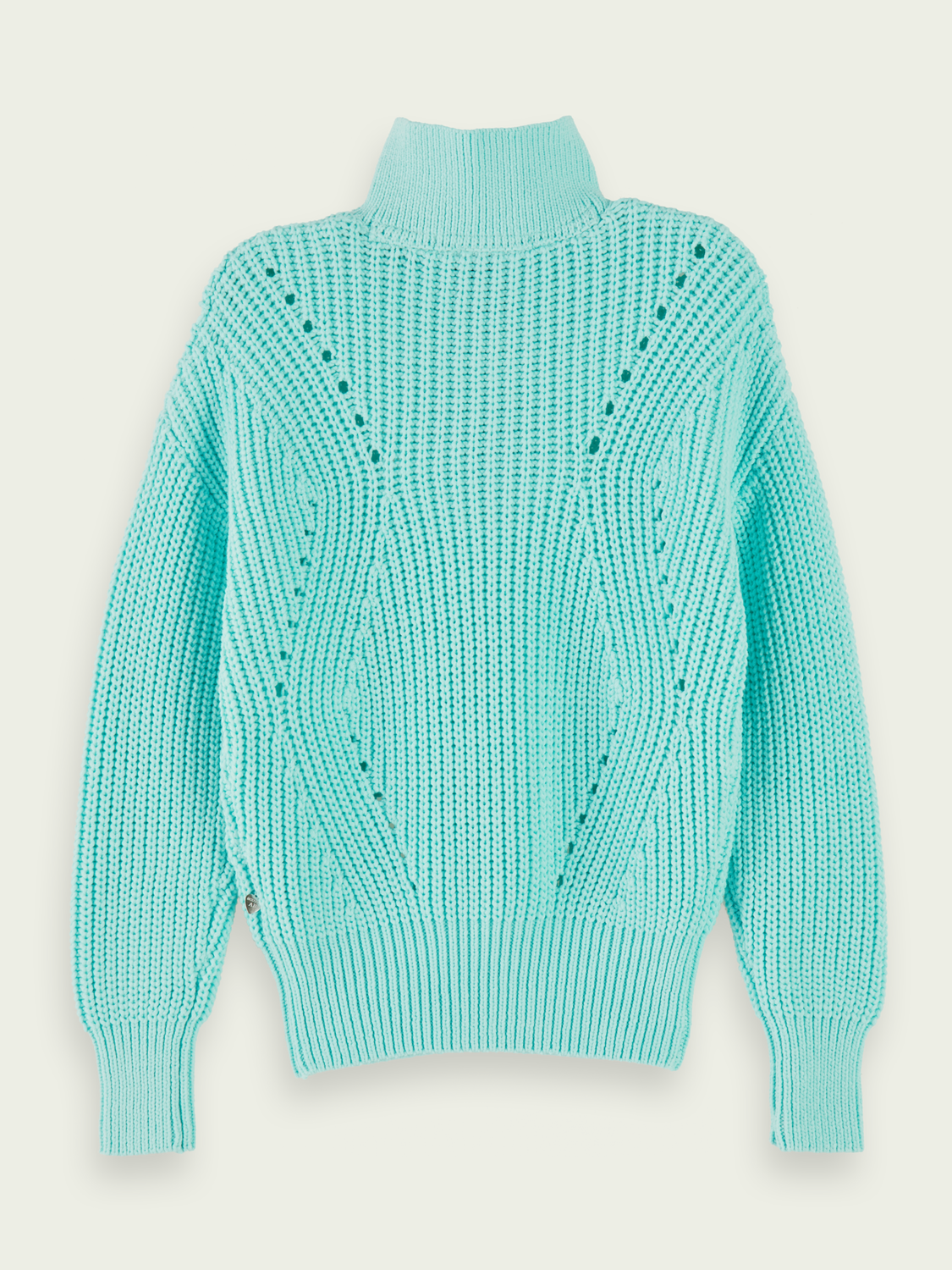 Girls Cotton-blend chunky knit pullover