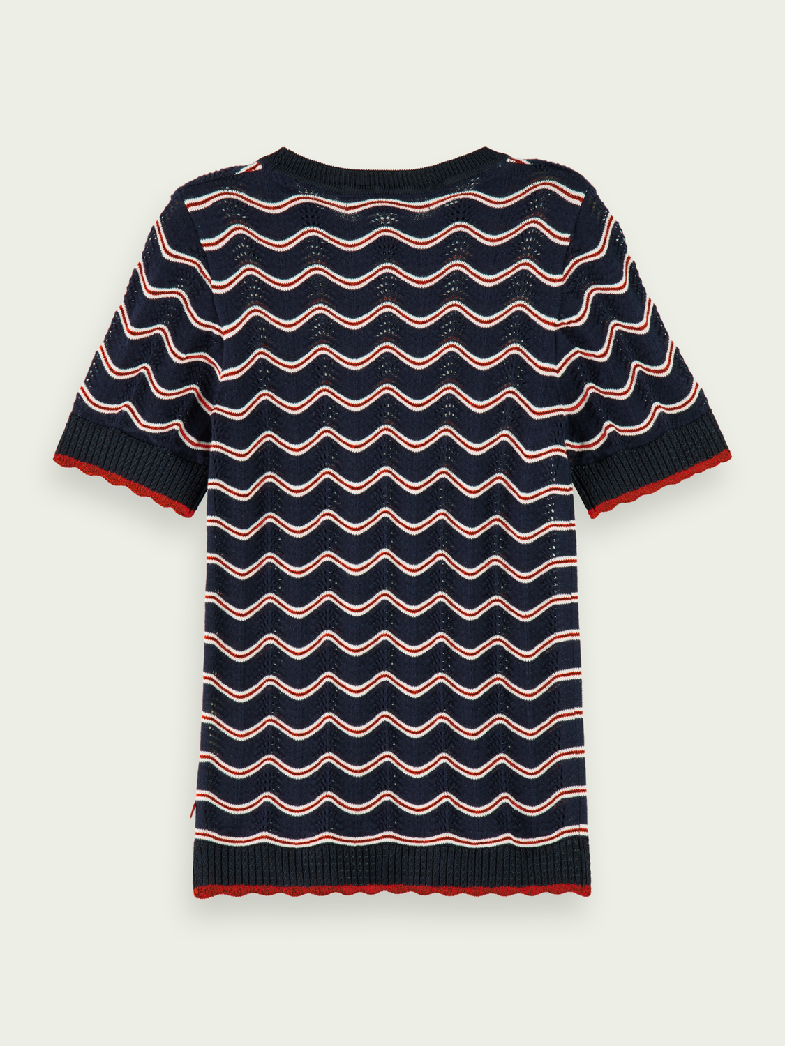 Girls 100% cotton ajour knitted short sleeve pullover
