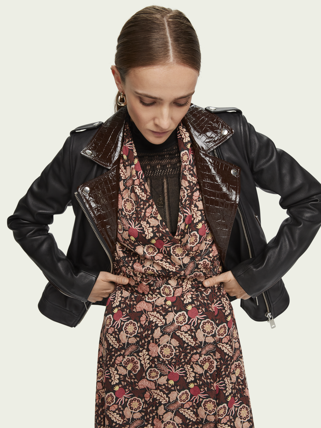 Women Leather biker jacket