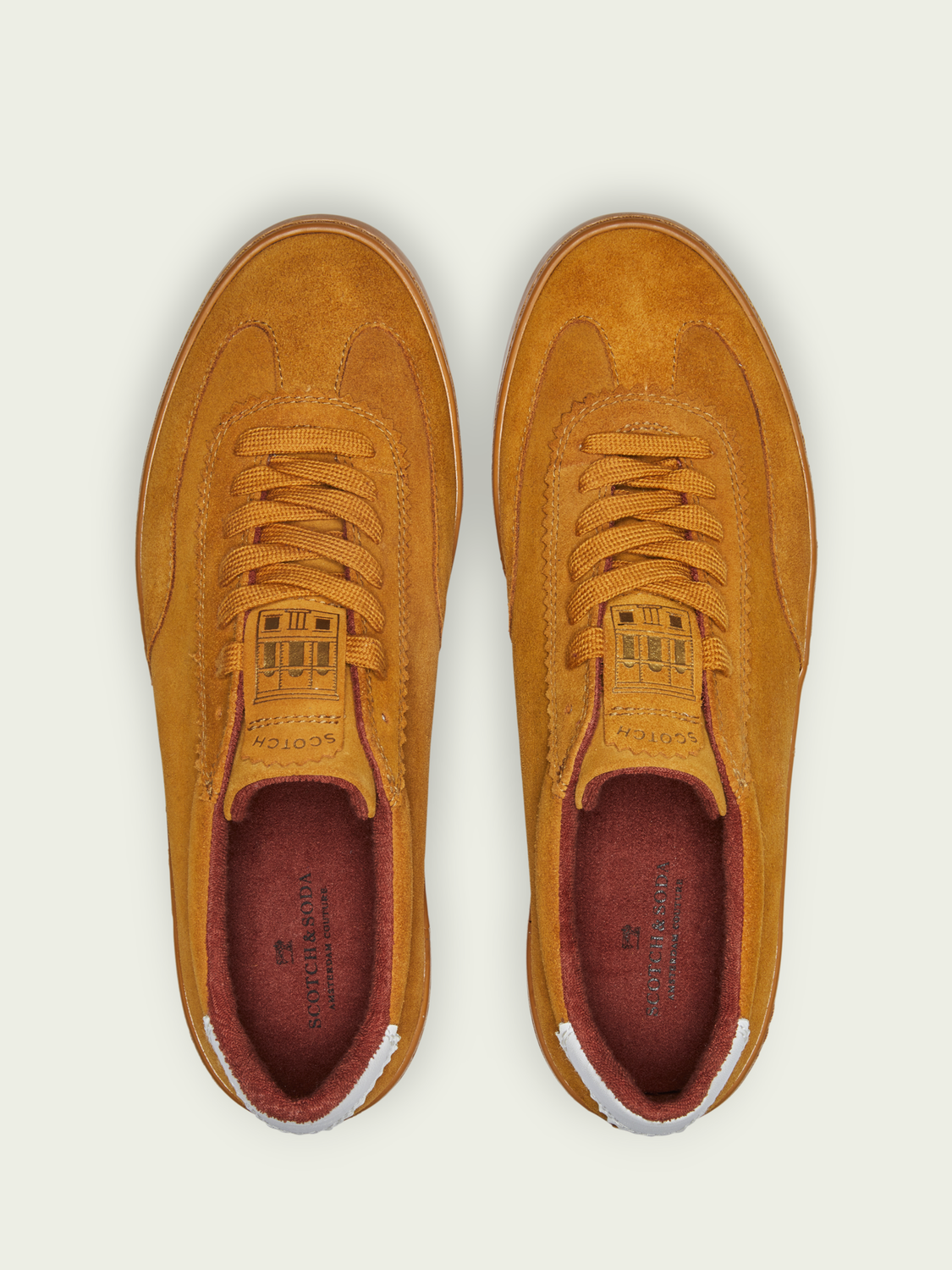 Men Plakka - lace-up suede sneakers