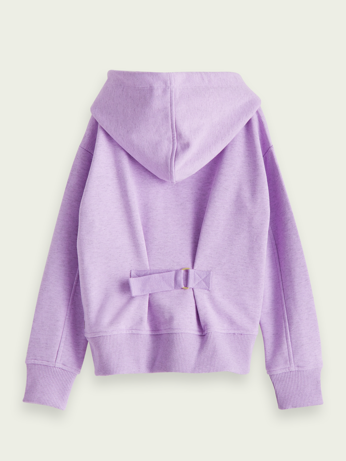 Kids Cotton-blend artwork hoodie with back buckle