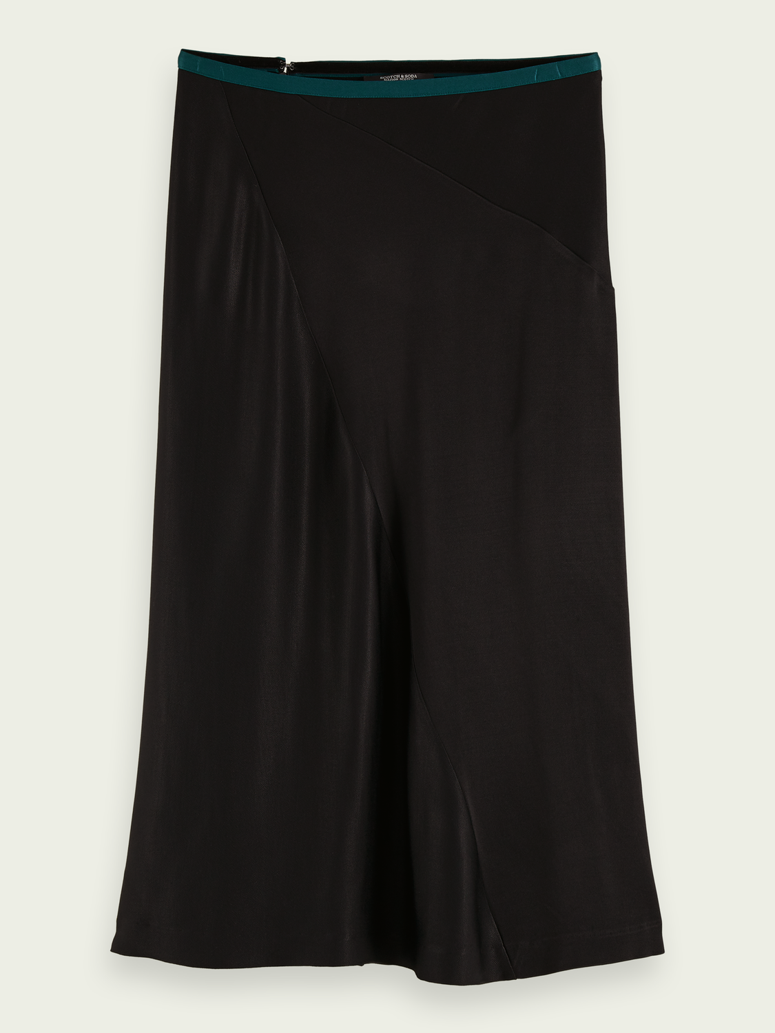 Women Drapey cut midi skirt