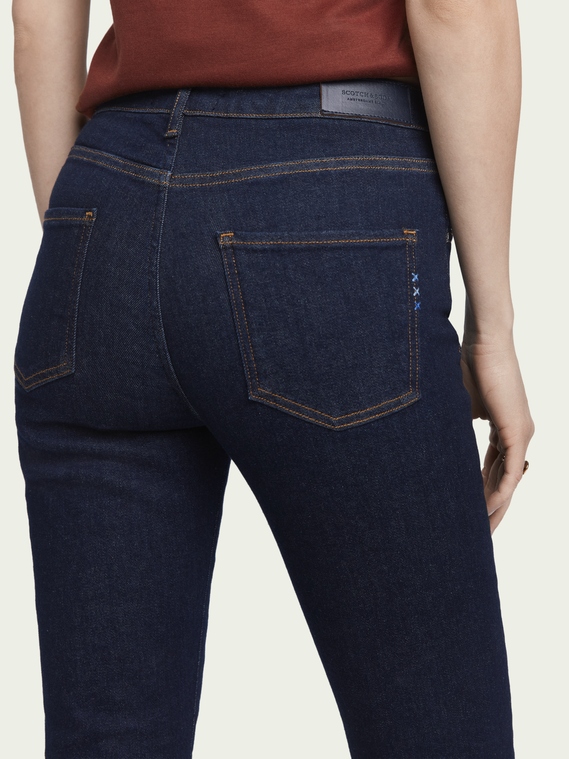 Damen Haut – French Blue | High-Rise Skinny Fit Jeans
