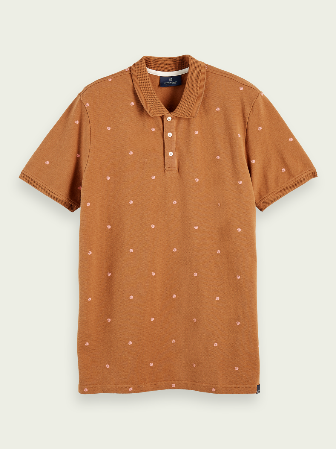 Men 100% cotton short sleeve printed polo shirt