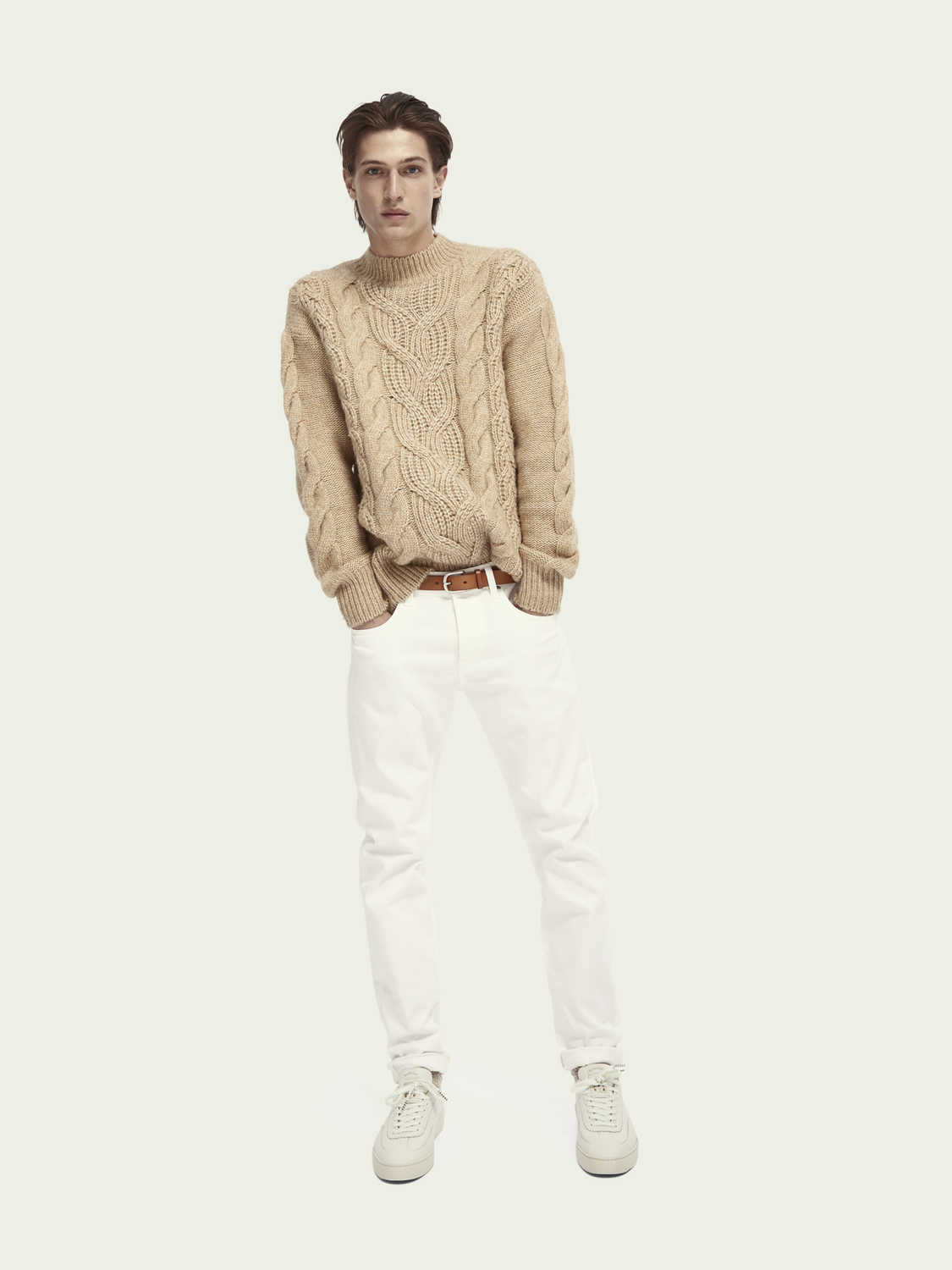 Men Chunky cable knit pullover