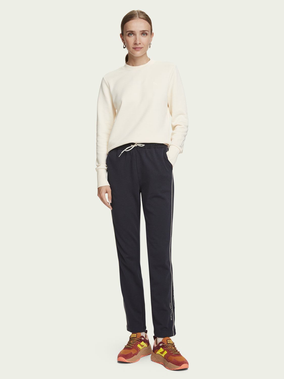 Damen Langärmliges Basic Sweatshirt