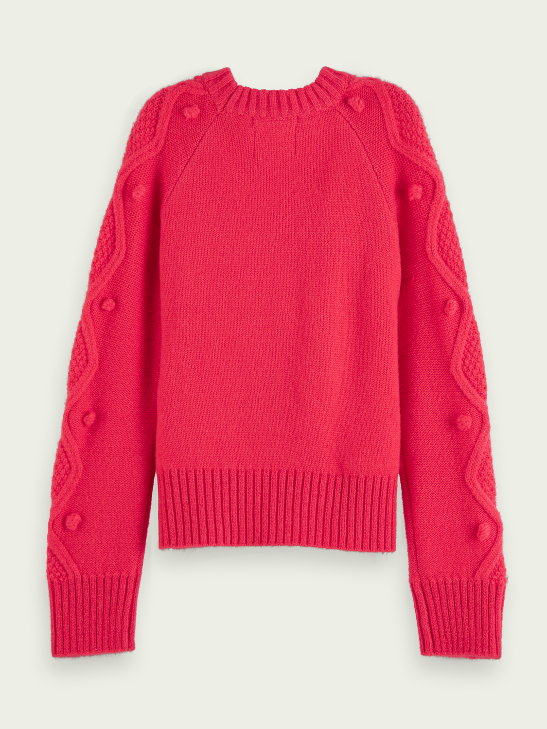 Girls Crewneck cable knit pullover
