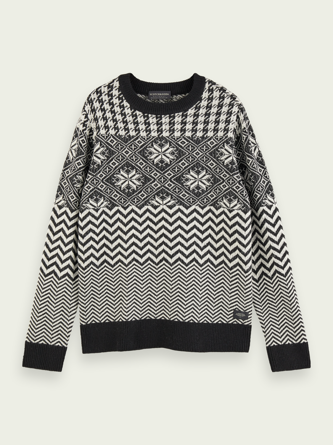Men Lightweight wool-blend  patterned pullover