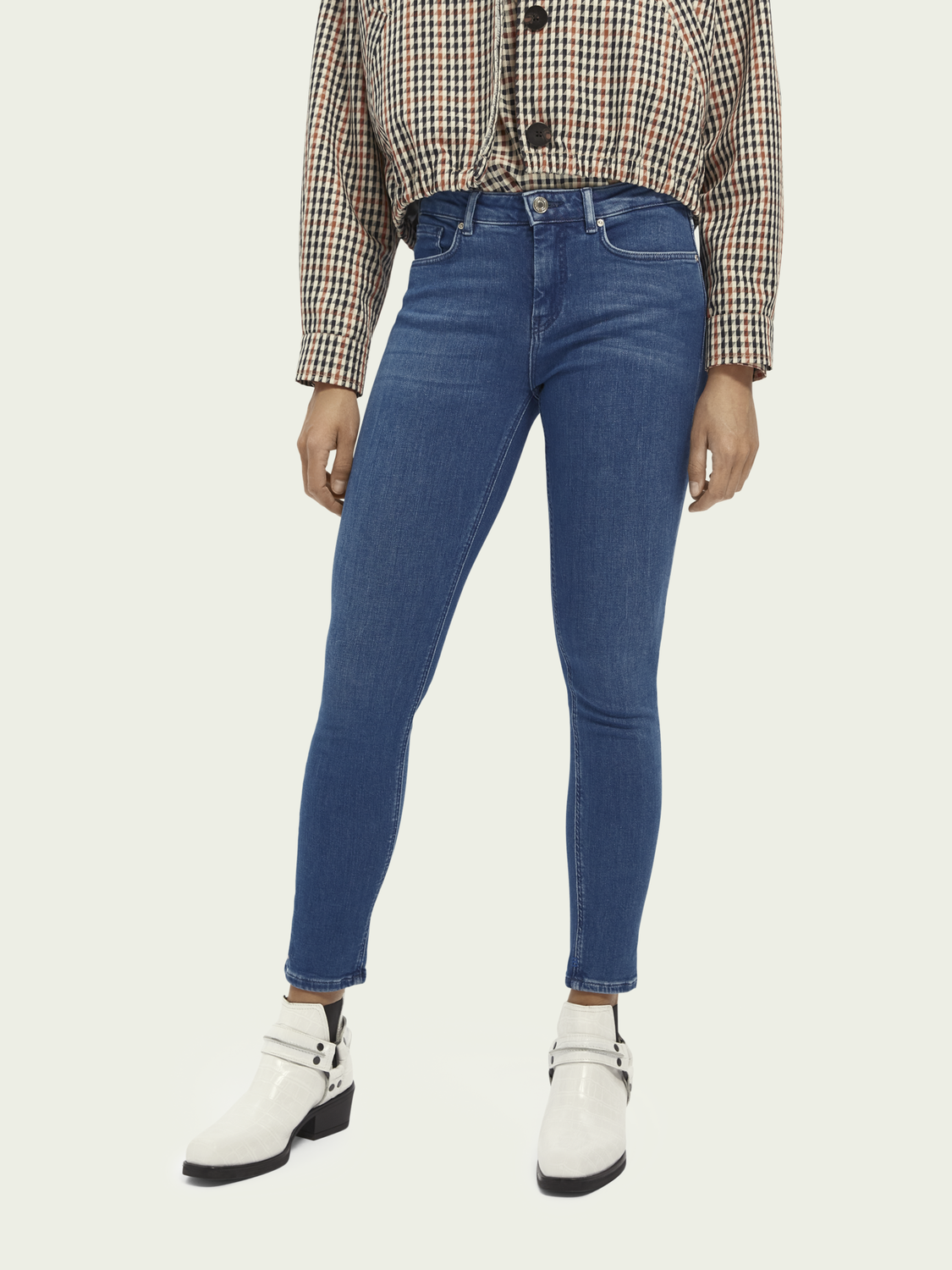 Dames La Bohemienne cropped - Bright Hours | Stretch mid rise skinny fit jeans