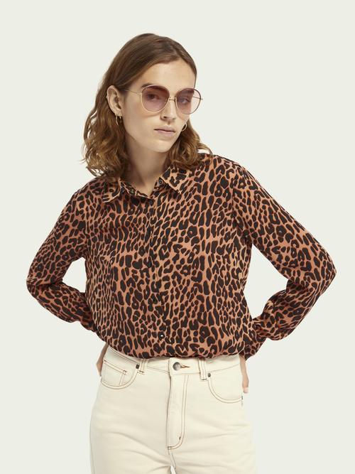 Scotch & Soda REGULAR FIT ANIMAL PRINT SHIRT
