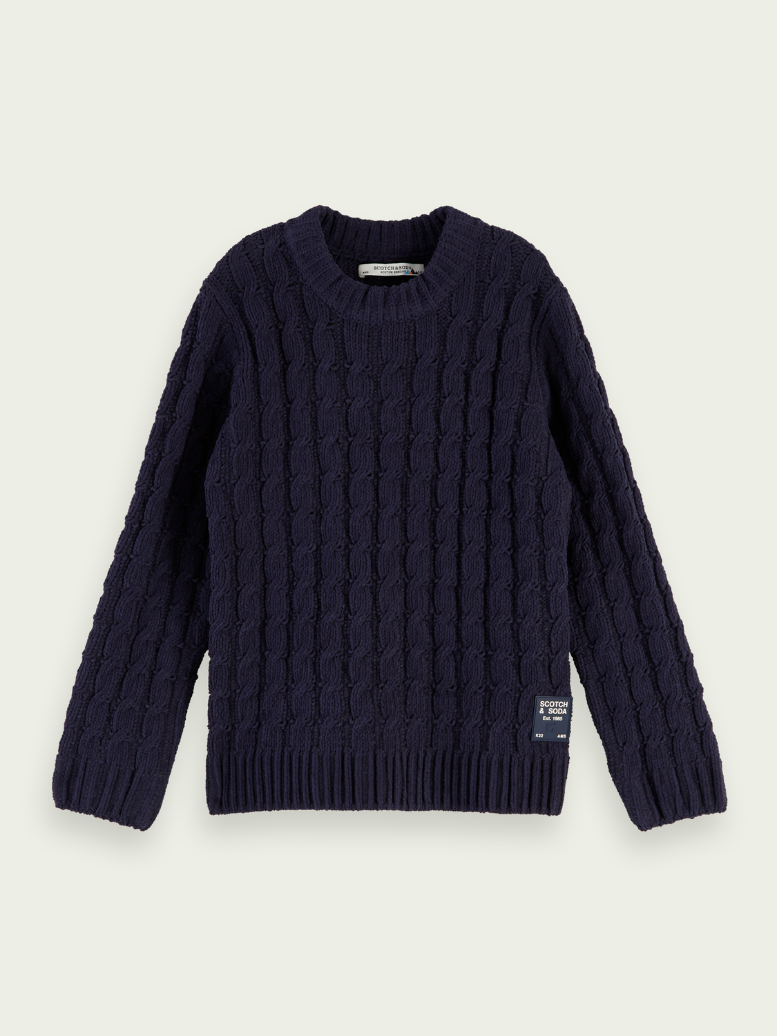 Kids Chenille cable knit pullover