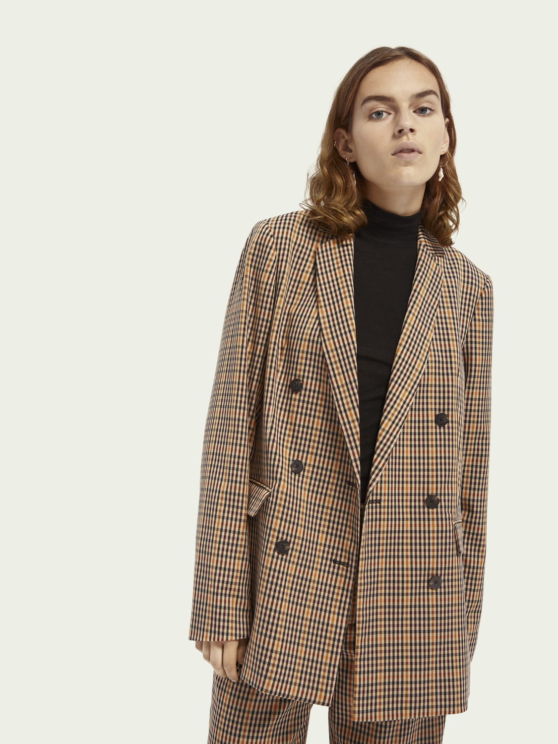 Dames Langere double-breasted blazer