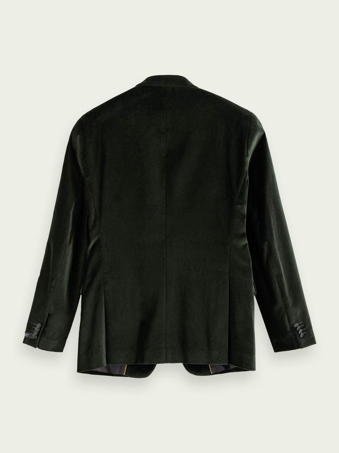 Homme Blazer en velours avec finitions en satin