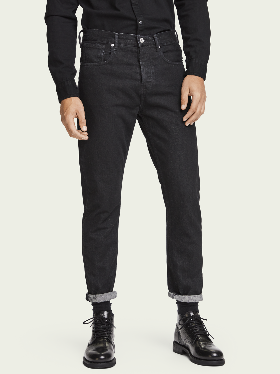 Herren The Norm – Clean Black | High-Rise Straight Fit Jeans aus Bio-Baumwolle