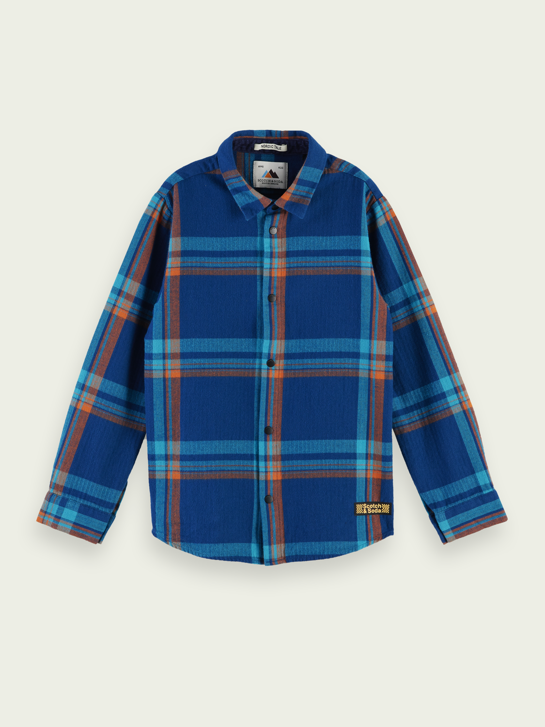 Kids Cotton checked shirt