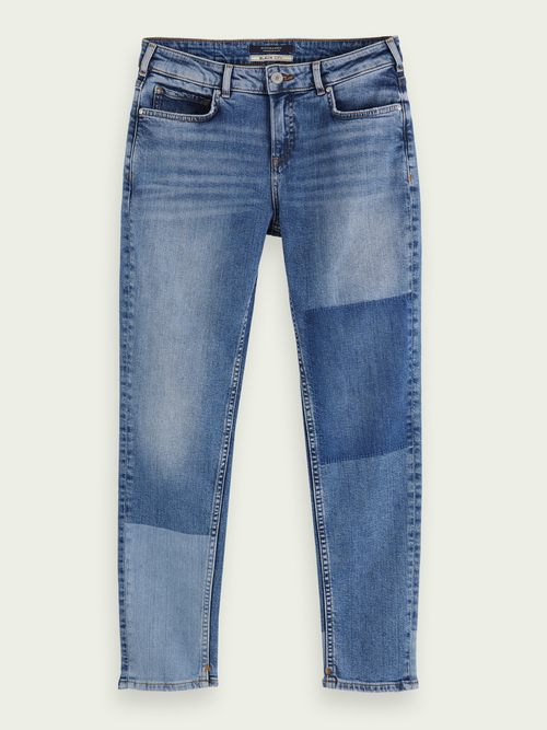 The Keeper - City Patchwork | Mid rise slim fit jeans