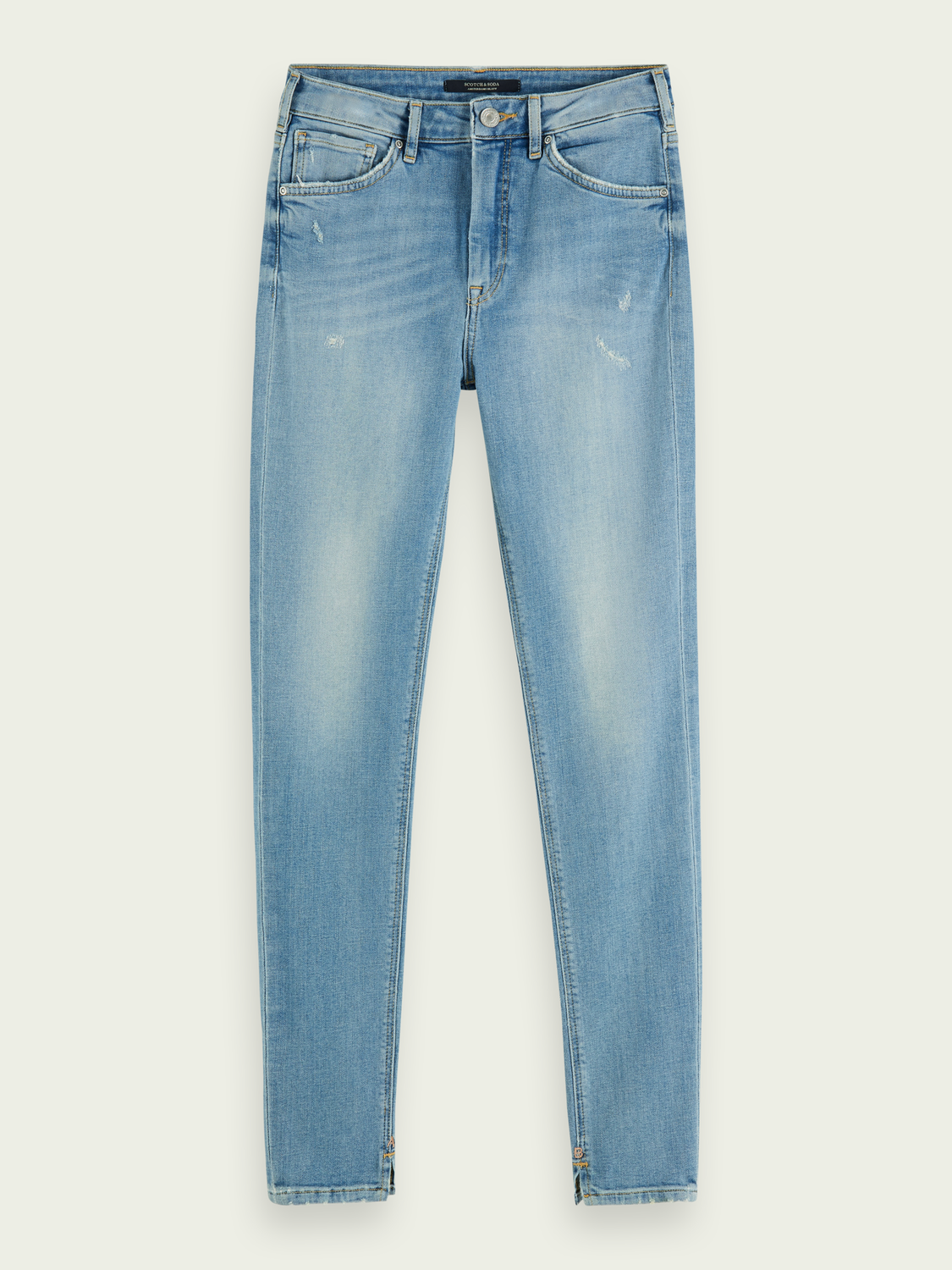 Dames Haut - Clear Sky | High-rise skinny fit jeans