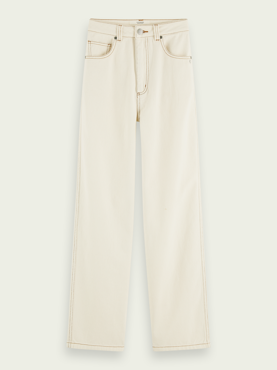 Women Cotton high-rise straight fit pants