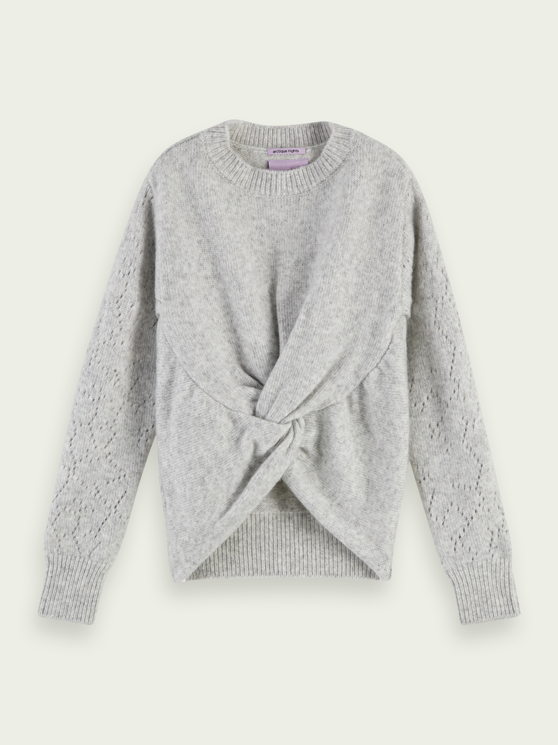Girls Wool-blend knotted knit