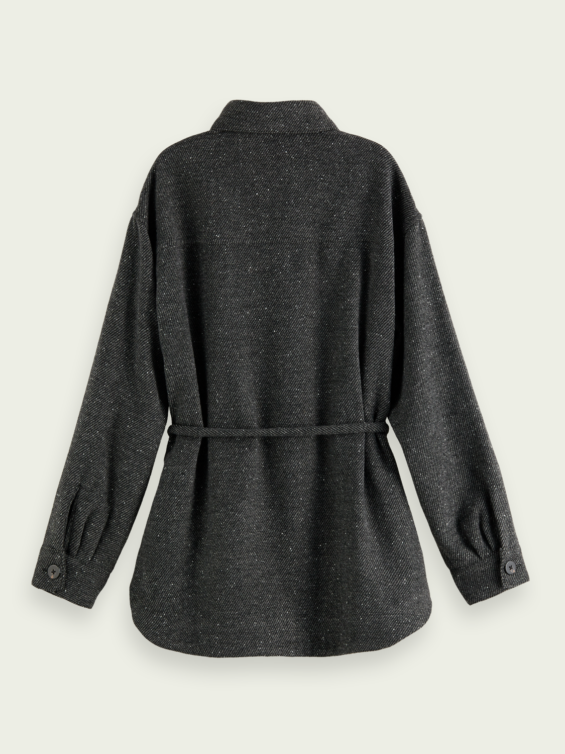 Women Oversized wool-blend shirt jacket