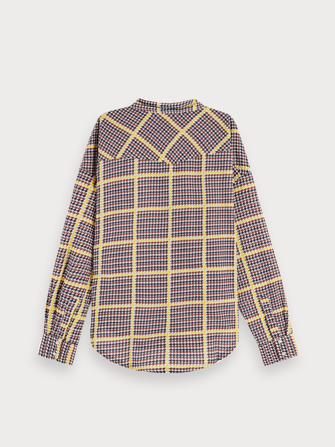 Donna Cotton blend long sleeve checked western shirt